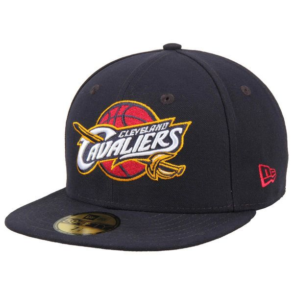 c2c0f3dd255 Mens Cleveland Cavaliers New Era Navy Blue Team Logo 59FIFTY Fitted ...