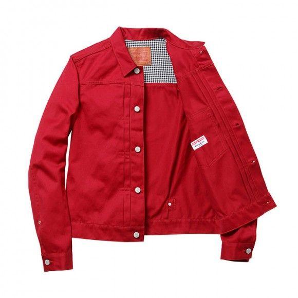 Supreme X Levi S Red Jacket Fashion Pinterest Jackets Mens