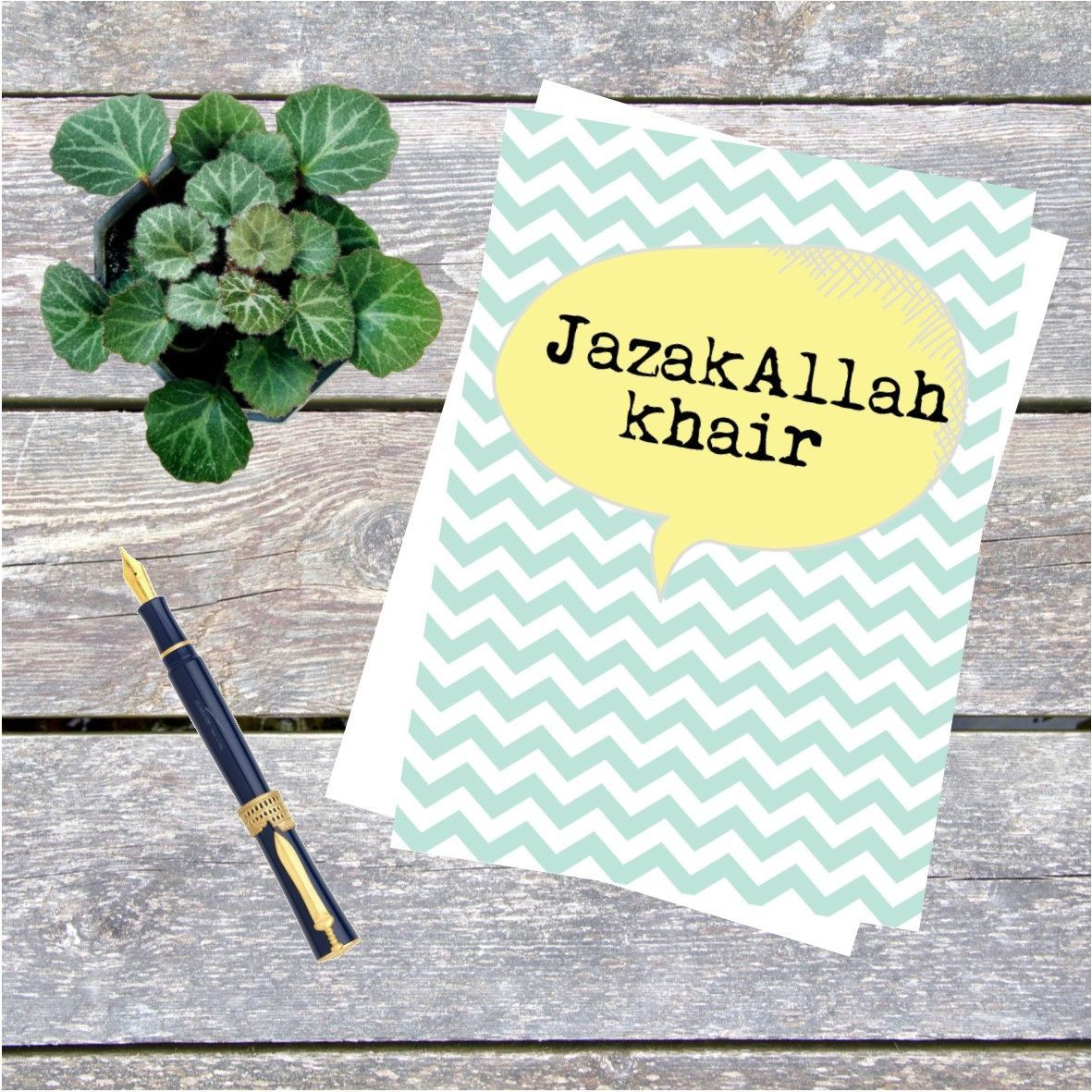 Jazakallah chevron islamic greeting card muslim home pinterest jazakallah chevron islamic greeting card kristyandbryce Image collections