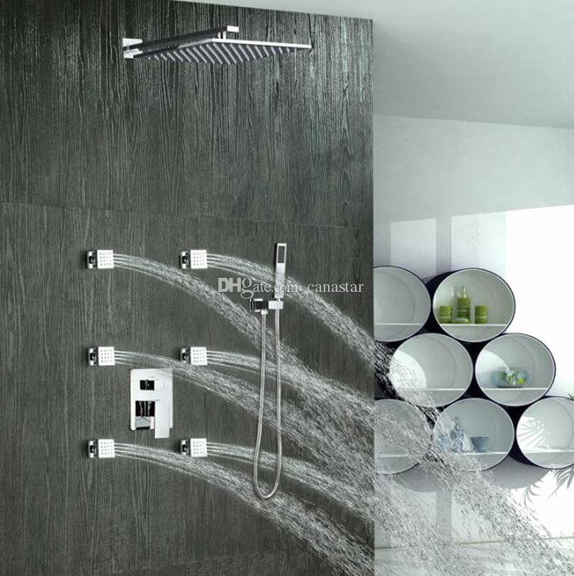 Bathroom Accessories Modern Unique 2019 3 Function Shower Faucet Set Modern Luxury Shower Head Hand