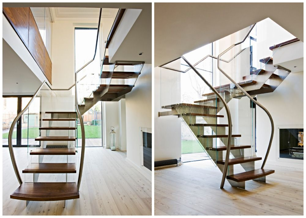 Best Bespoke Staircases Combine Elements Of Steel Glass And Timber 400 x 300