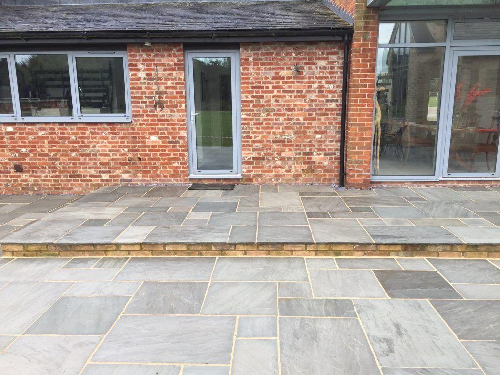 ethan mason silver grey sandstone natural stone paving slabs patio slabs