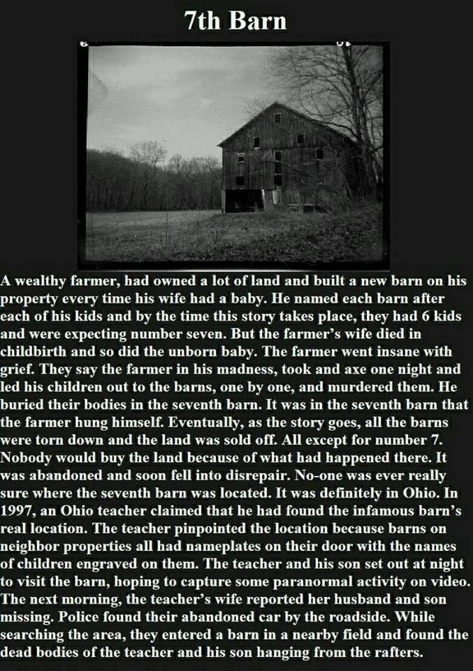 The 7th barn scary story | Scary stories and images ...