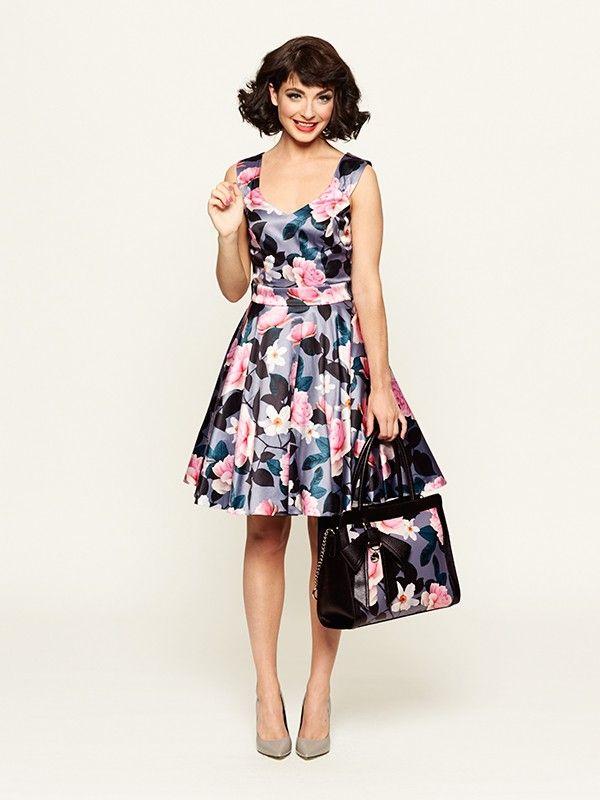 Monaco Rose Dress Rose Dress Vintage Inspired Fashion Australia Clothes