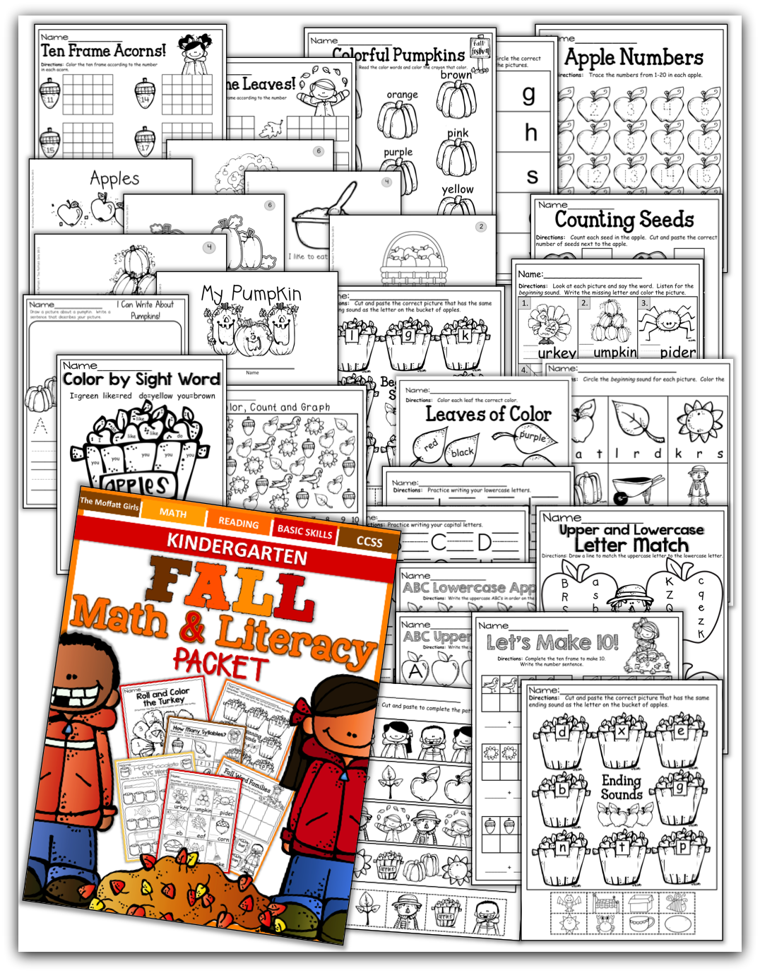 Fall Math And Literacy Packet Kindergarten