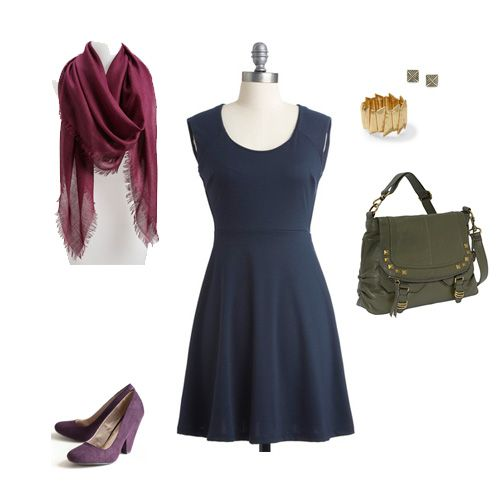 Color Combos That Complement Navy - four different suggestions!