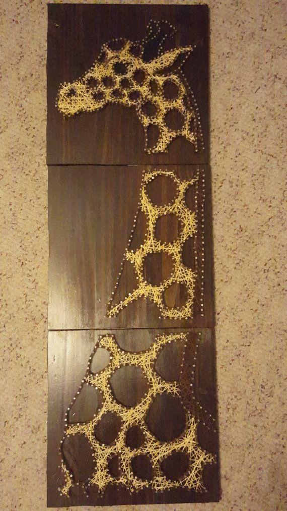 3 Panel Giraffe String Art by CrazyCraftingMaze on Etsy ...