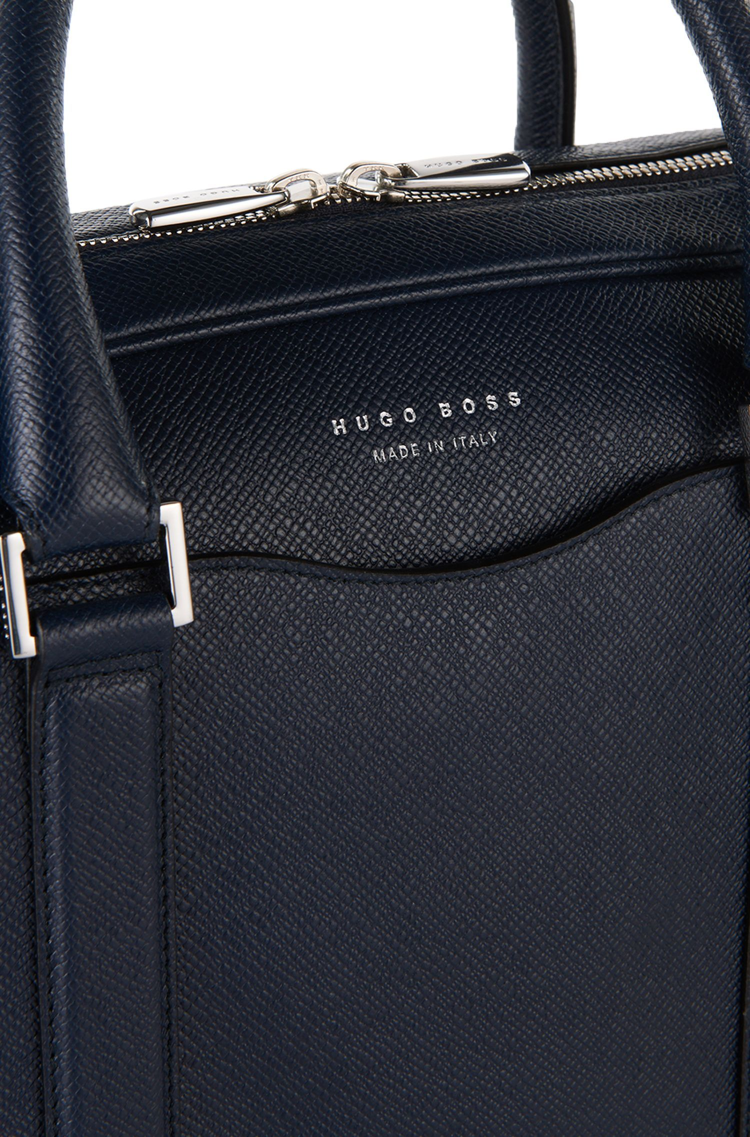 3e12ba39d0 Laptop bag in finely-textured leather   Signature S doc