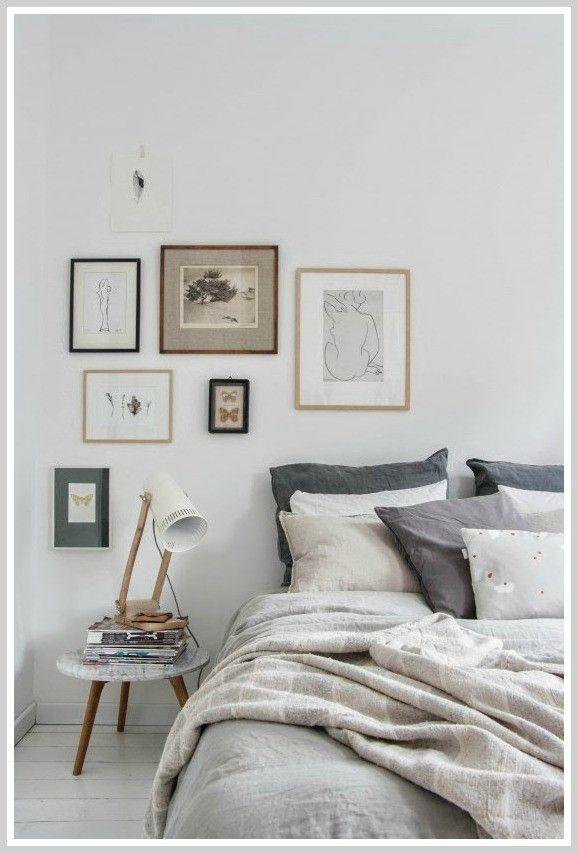 Chambre / blanc beige gris / lin Idée déco chambre Pinterest
