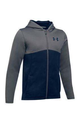 3eb7b5426 Under Armour Boys 8-20 Armourï Fleece Full Zip Hoody - Navy - Xs ...