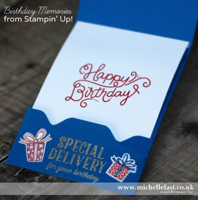 Birthday Delivery From Stampin Up