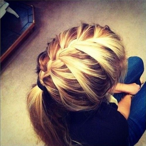 15 Adorable French Braid Ponytails for Long Hair | Hair | Hair ...