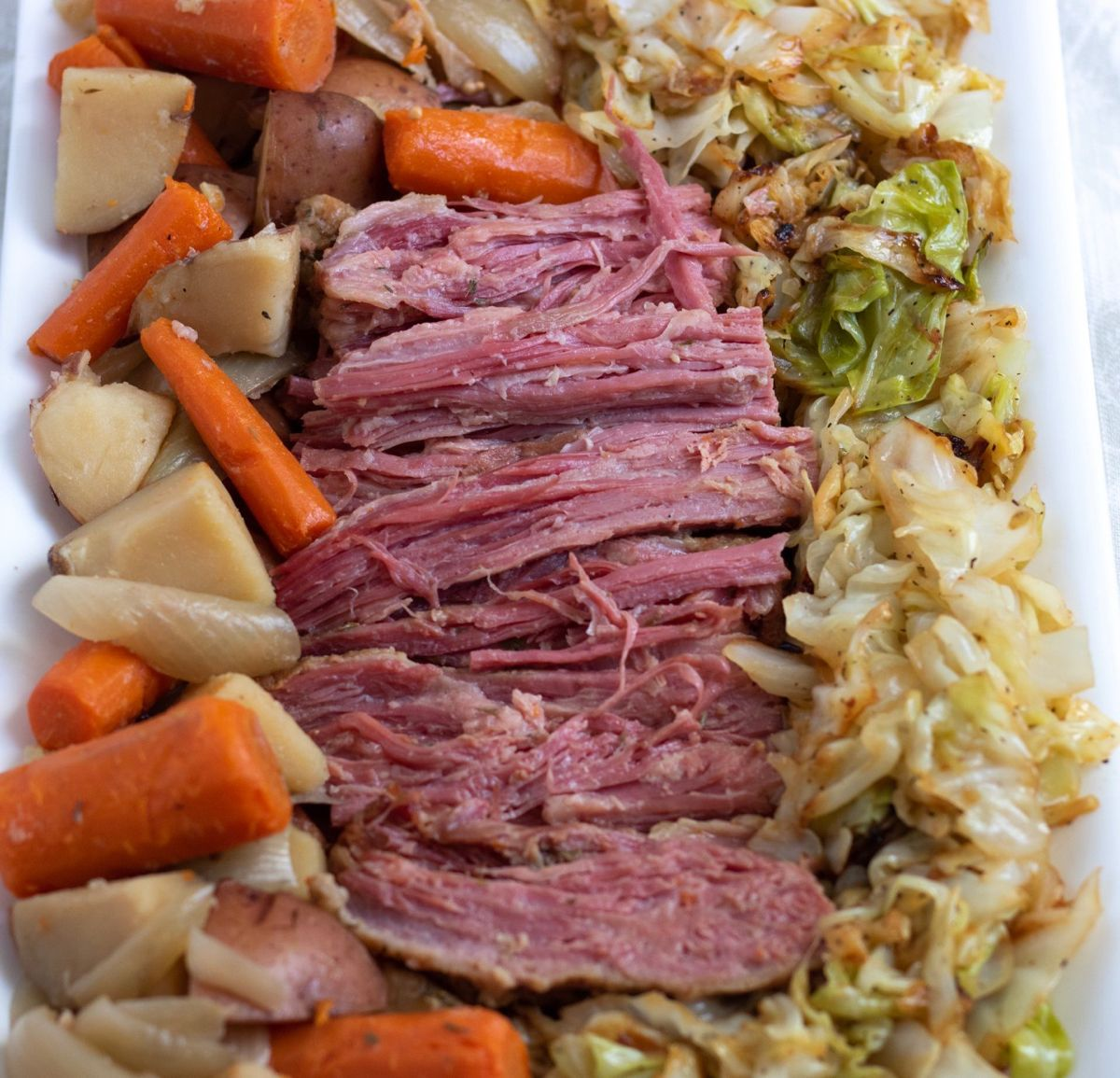 Crockpot Corned Beef And Cabbage Dinner Wine A Little Cook A Lot In 2020 Corn Beef And Cabbage Beef Recipes Corned Beef