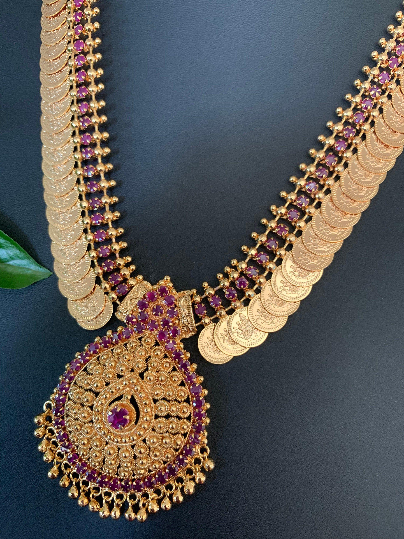 Indian Jewellery Set Celebrity Jewellery Temple Necklace Set Wedding Set Ethnic Necklace Traditional Temple Large Ganesha Goddess