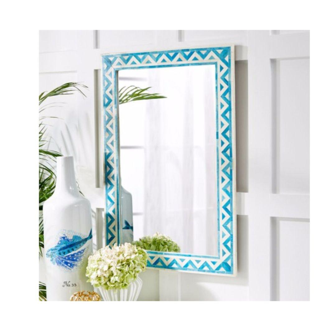 Aqua Colored Handmade Indian Handicrafts Home Interior Wall Decor