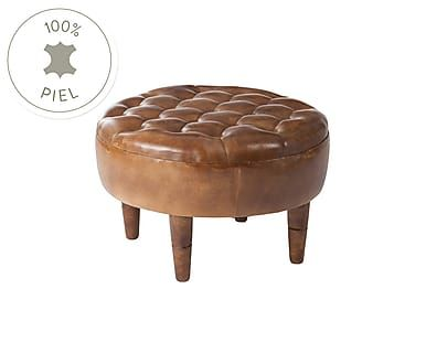 Puf en madera y cuero Conac - marrón   Proyecto Asientos: sillas ...