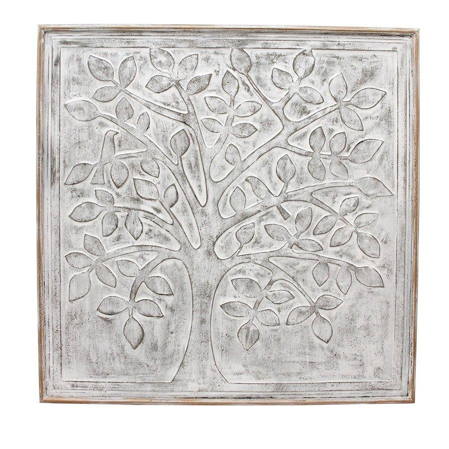 Tree Of Life Whitewash Metal Wall Art Outdoor Metal Wall Art Wall Carvings Metal Wall Art