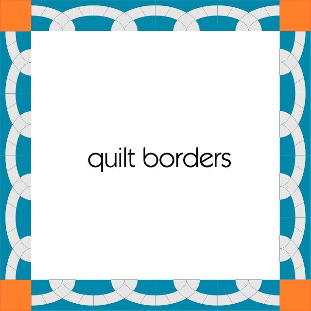 Pieced Quilt Borders days template for hand piecing or - border paper template