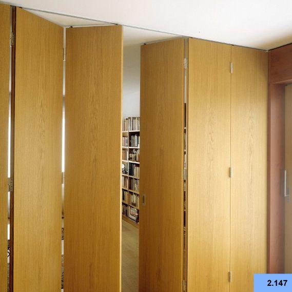 Sliding Door Hardware Parts Folding Door Accessories Round Wooden