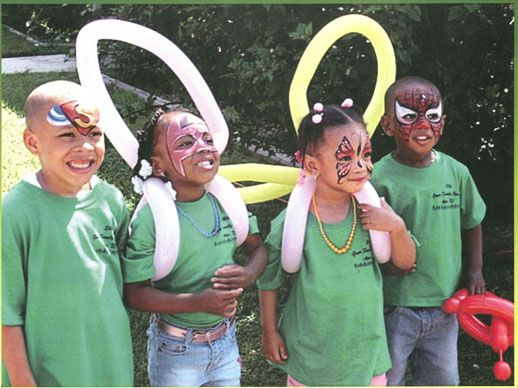 Balloon wings and face paint