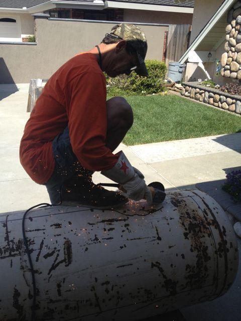 Cutting The Tank Open