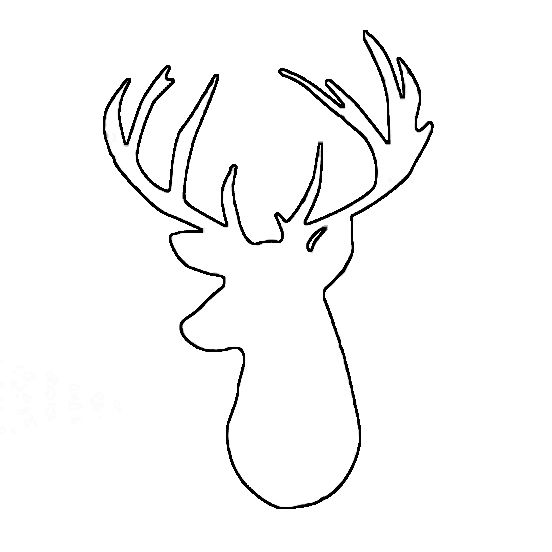Deer Head Outline Printable Sketch Coloring Page