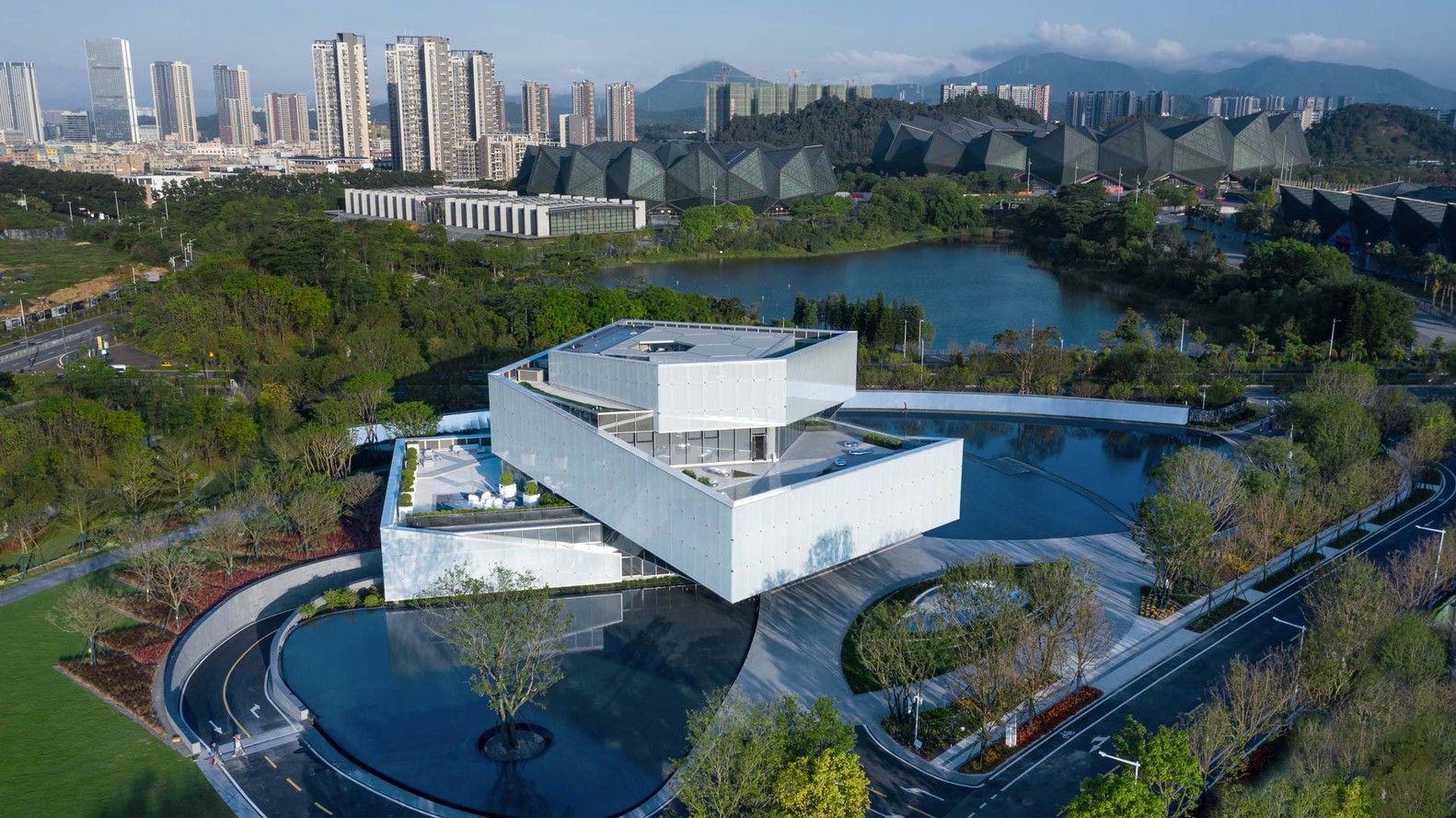 Gallery Of Exhibition Center Of Shimao Shenzhen Hong Kong International Center Shuishi 10 Architecture Design Shenzhen