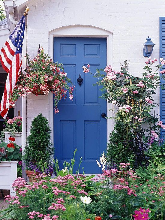 Your front door & pathway into your home should look warm and inviting. Add plants to the mix or paint your door a color to show off your creative side!