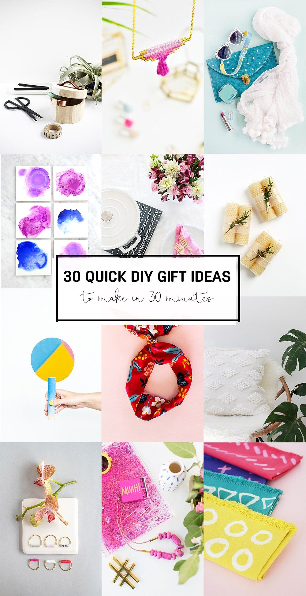 30 Quick DIY Gift Ideas to make in 30 minutes | Craft ideas, 30th ...