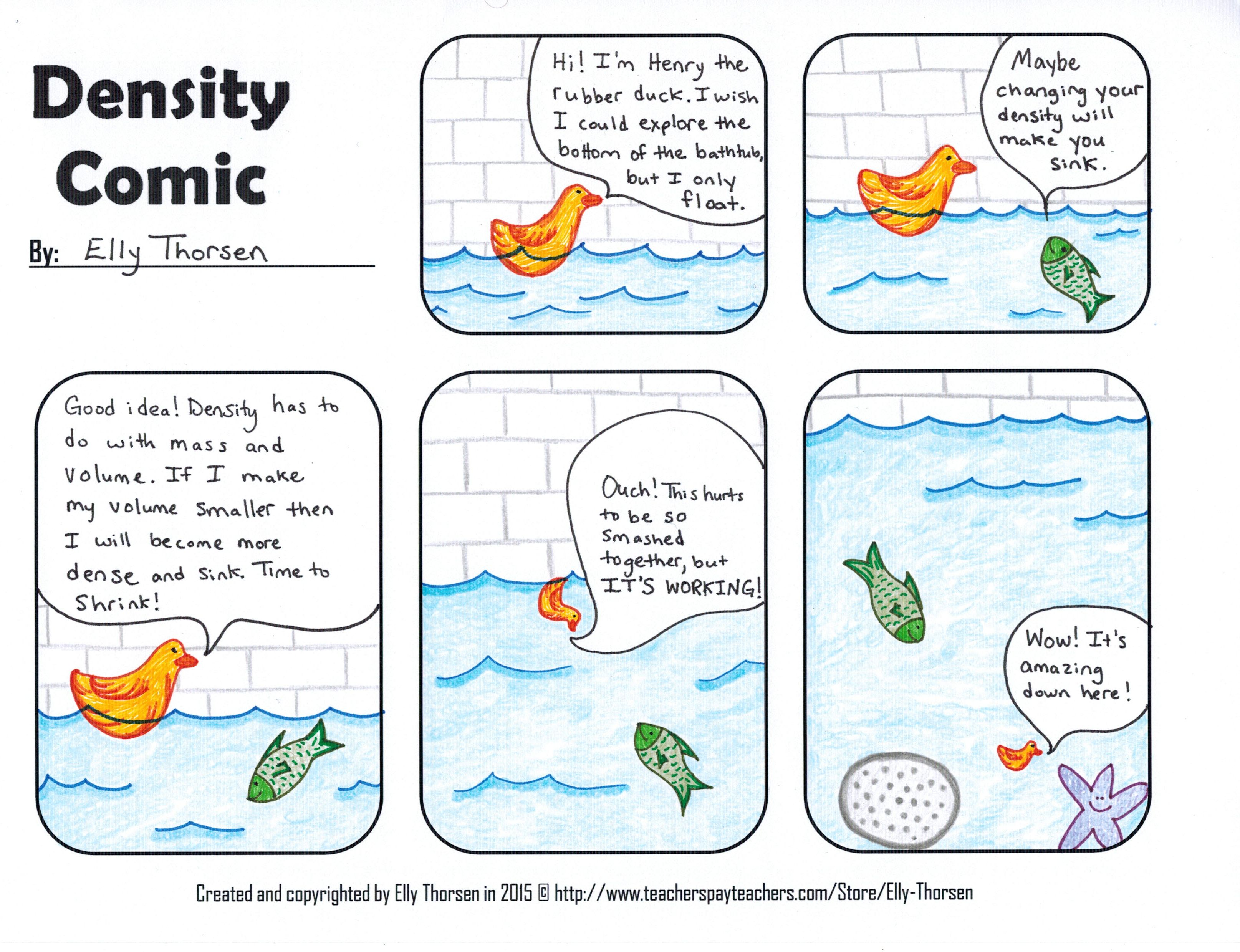 Density Comic Science process skills, Geometry