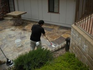 How To Clean U0026 Seal A Flagstone Patio (directions In The Comments Section)