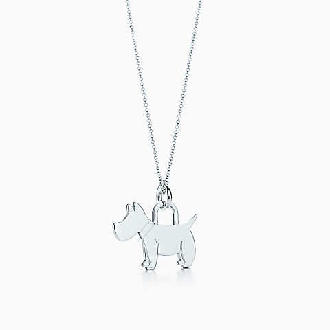396593fed2f6a Scottie tag charm in sterling silver on a chain. | accessories ...