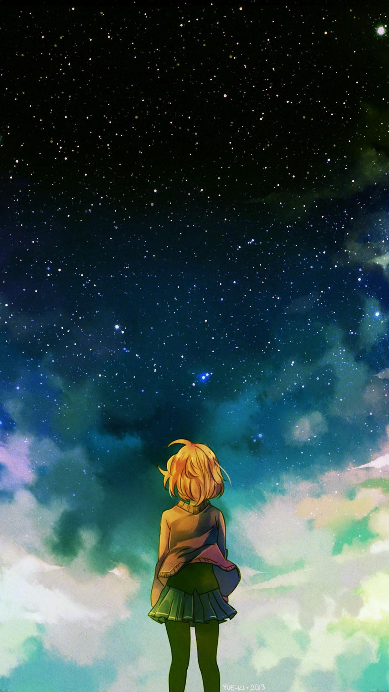 starry day anime Tìm với Google Anime scenery, Anime