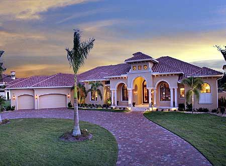 Plan 66316we Magnificent Covered Lanai Tuscan House Plans Mediterranean Style House Plans Tuscan House