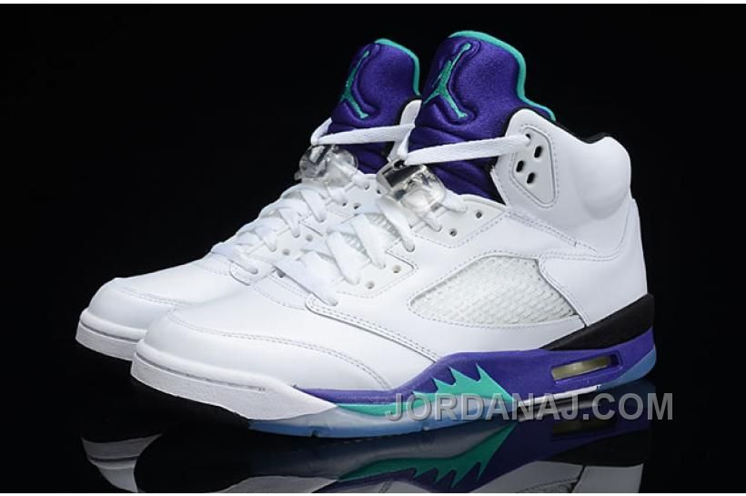 Air Jordan 5 Retro Grapes White New Emerald-Grape Ice-Blue