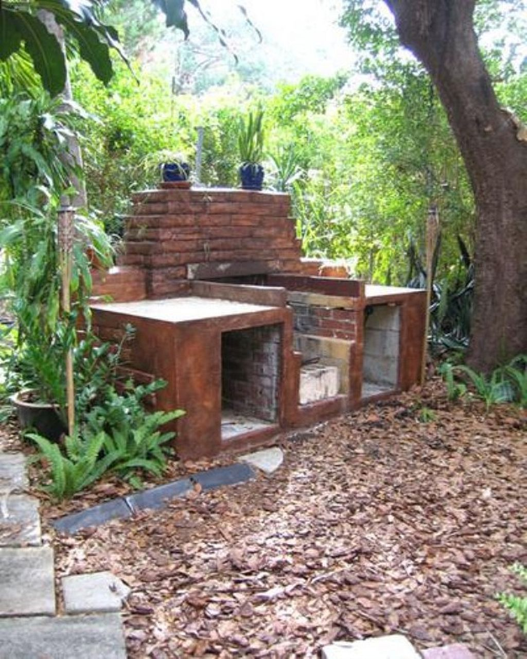 How to Make Yourself Backyard Brick Grill | Brick bbq, Diy ...