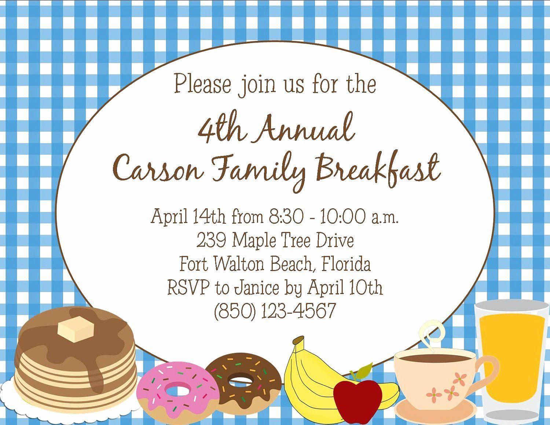 35 free breakfast invitation template in 2020