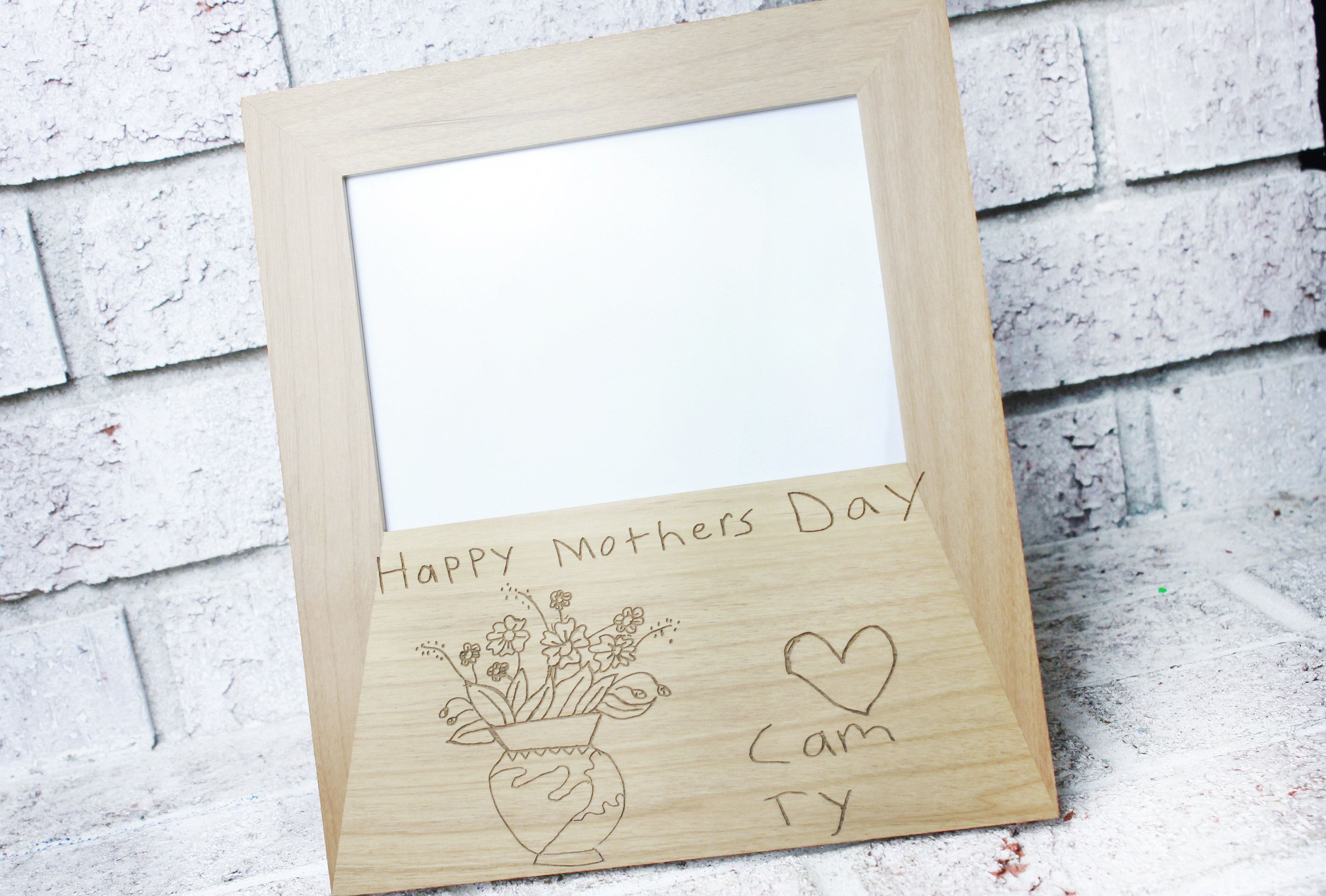 Custom Handwriting Frame Memorial Gift Laser Engraved Wooden Frame Personalized 5x7 Picture Frame Your Handwriting Engraved