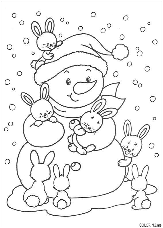 iColor ~ Snow Bunnies Easter crafts Pinterest Snow bunnies - new easter coloring pages to do online