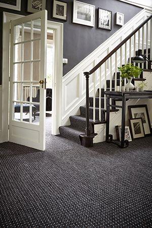 dark spotted stair & hallway carpet, carpetright - hallway ideas