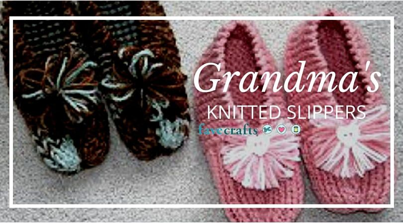 Grandma\'s Knitted Slippers | Knitting patterns, Patterns and Crochet