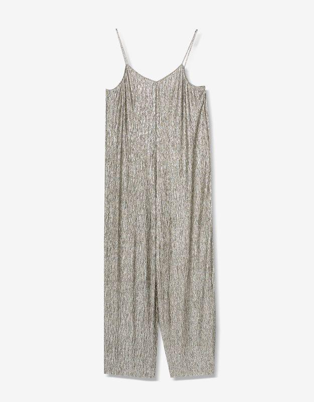 Glanzende metallic jumpsuit - Tuinbroeken en Jumpsuits - Kleding - Dames - PULL&BEAR Netherlands