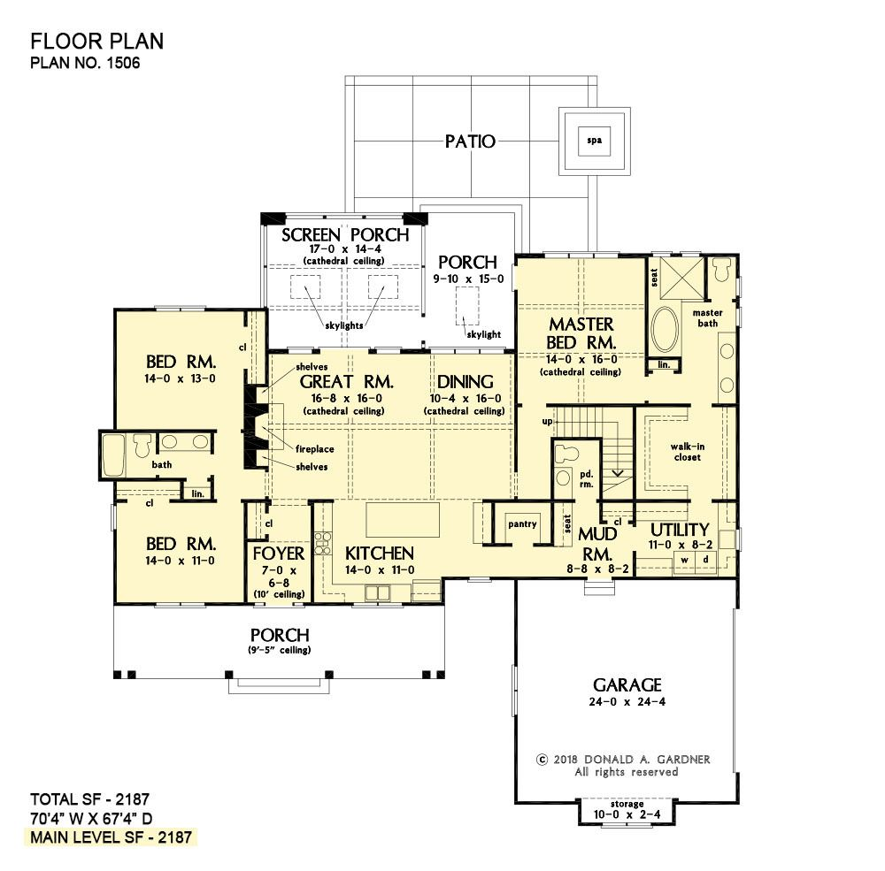 House Plan The Ashbry By Donald A Gardner Architects House Plans New House Plans Floor Plans