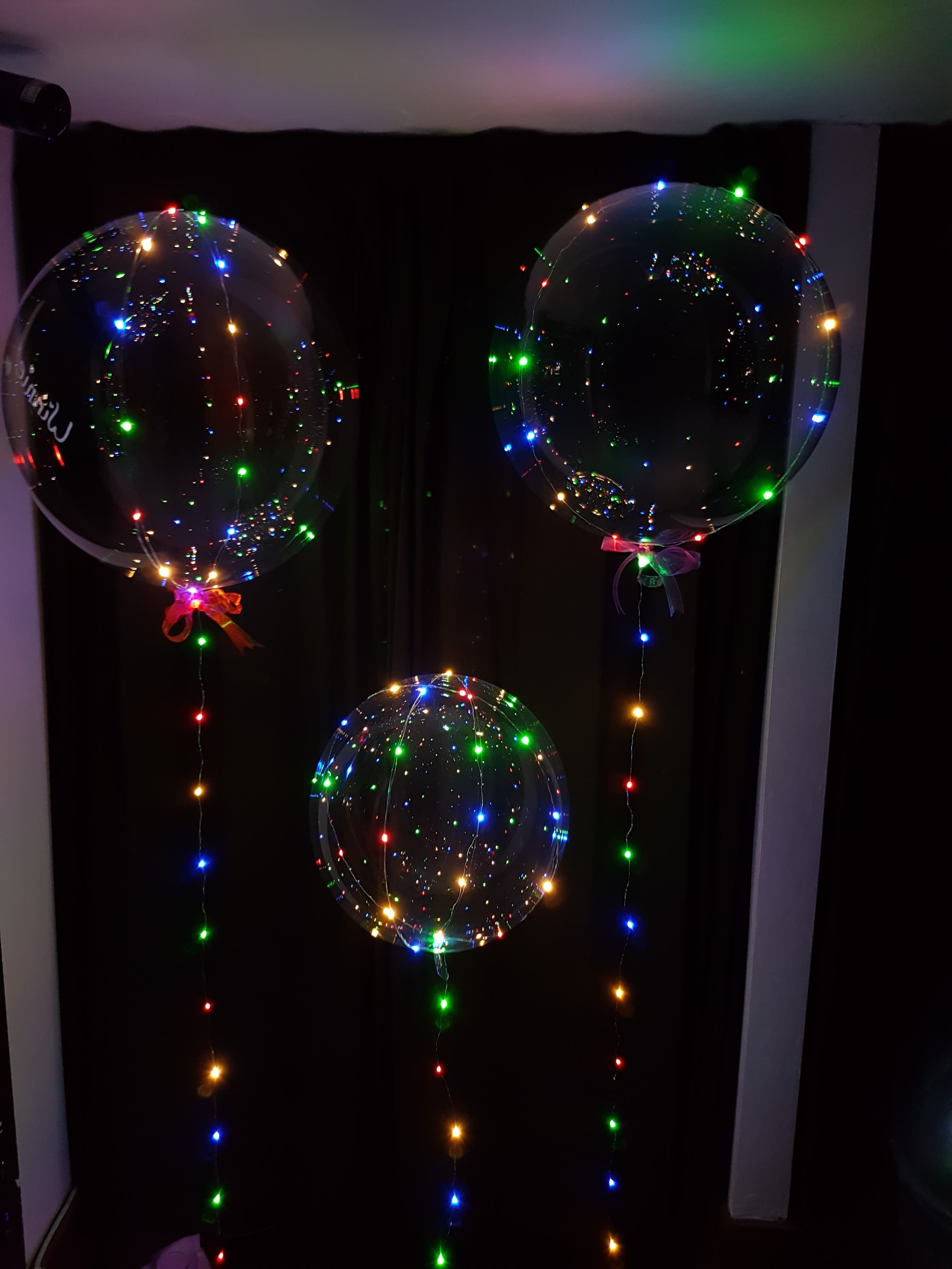 awesome new LED bubble balloons come with