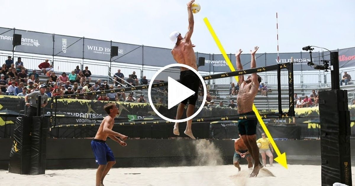 Top 50 Poweful Beach Volleyball Spikes 2018 Fivb Beach Volleyball World Tour Fivb Beach Volleyball Beach Volleyball Volleyball