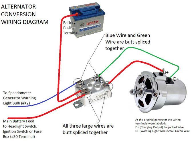cd660dca96ff6f7f3858f4b3bf2bee87 alternator conversion instructions vw pinterest vw, car