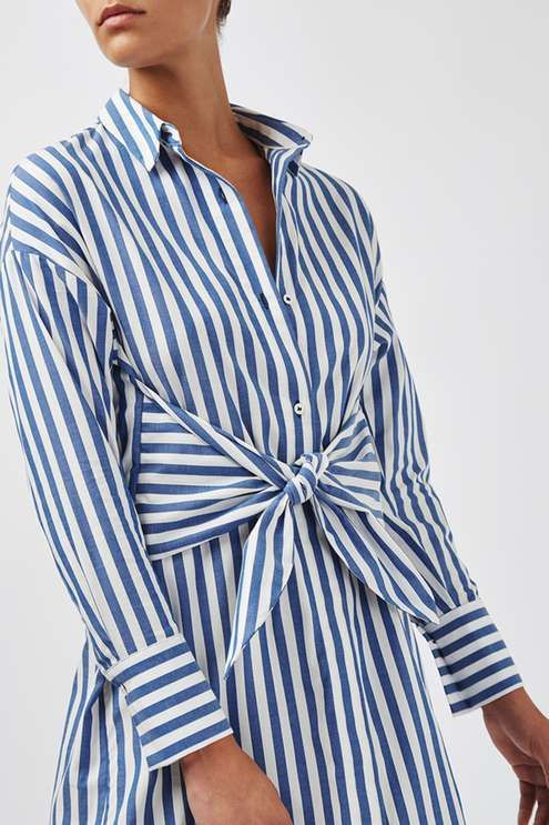 4b56efd4acf9a Walk the line between smart and chic in the striped shirt dress by Boutique.  Crafted in a rich cotton, it comes detailed with clean styling and  contemporary ...