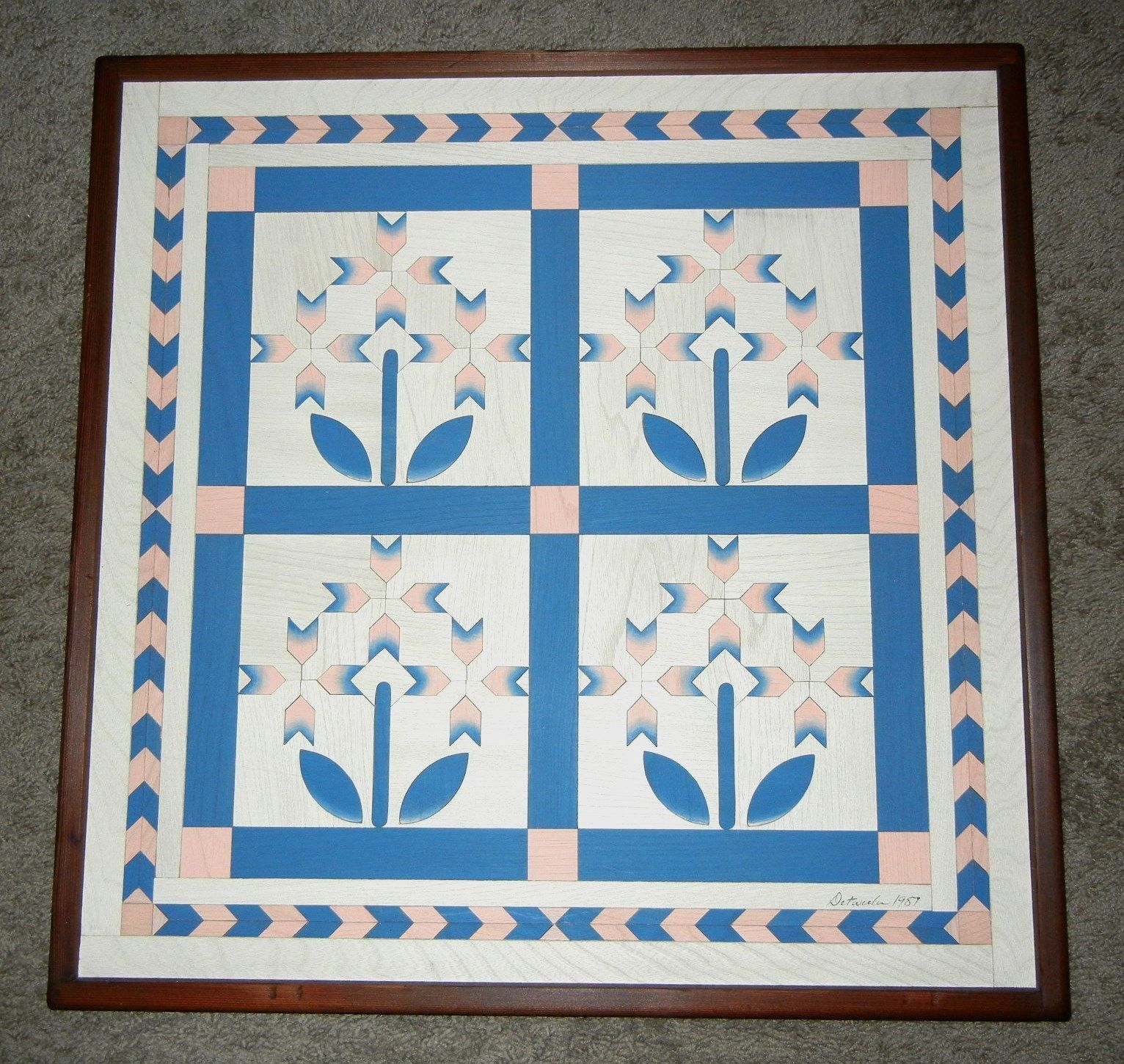Wood Quilts By Detweiler Inlaid Country Flowers Quilt Wall