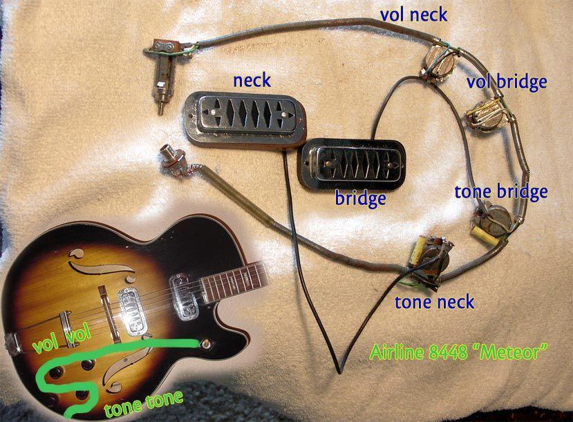 Harmony Standard Wiring For 2 Pickups Guitars
