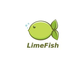 Double concept logo design inspiration: LimeFish